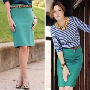 J. Crew Factory [6] The Pencil Skirt Kelly Green
